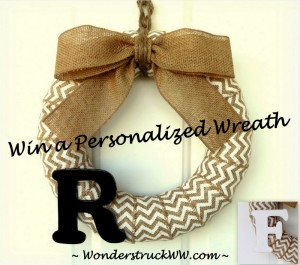 2nd Anniversary Giveaway – WIN a Personalized Wreath