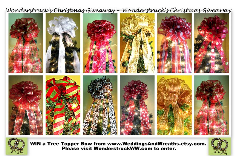 Wonderstrucks Christmas Tree Bow Topper Giveaway
