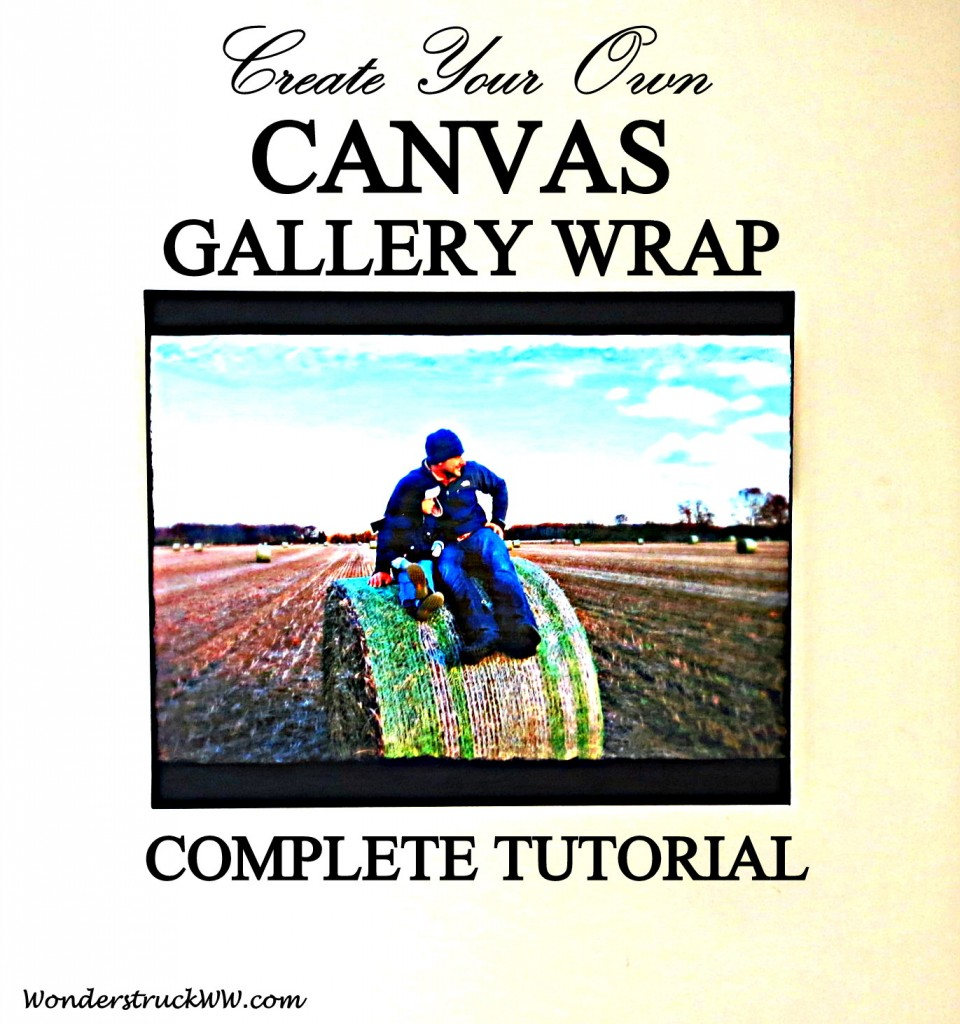 DIY Canvas Gallery Wrap