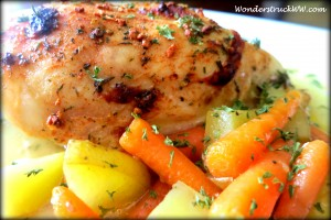 Easy Garlic and Herbed Chicken with Potatoes and Carrots