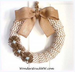 Celebration Giveaway – 14-Inch White Chevron Burlap Wreath