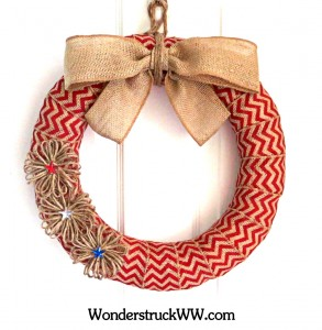 GIVEAWAY – 14-Inch Red Chevron Patriotic Wreath