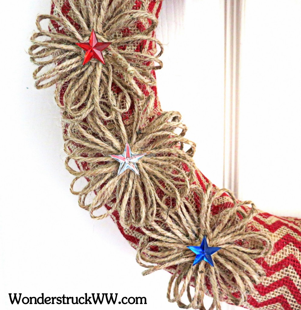 GIVEAWAY - 14-Inch Red Chevron Patriotic Wreath
