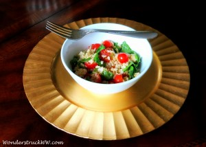 Heaven In A Bowl: Brown Rice, Tomatoes & Spinach
