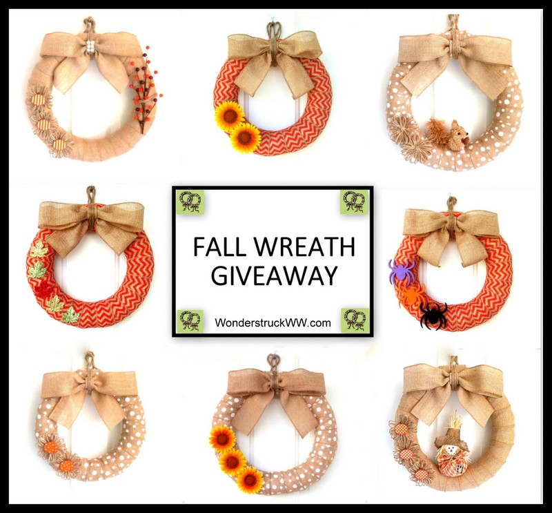 Wonderstruck Fall Burlap Wreath Giveaway