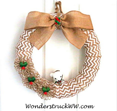 Winter Burlap Wreath Giveaway