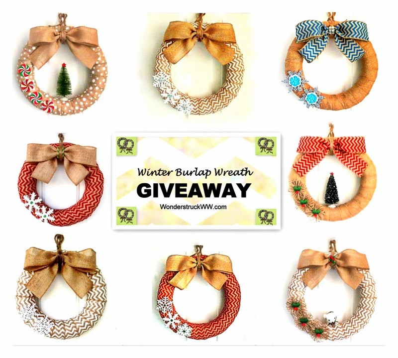 Winter Burlap Wreath Giveaway1