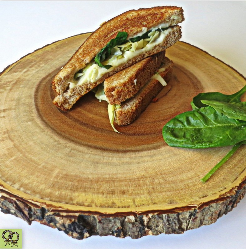 Spinach/Artichoke Grilled Cheese