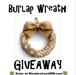 Burlap Wreath Giveaway – Summer 2016